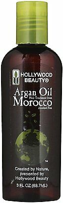 Hollywood Beauty Argan Oil Hair Treatment, 3 Ounce, New