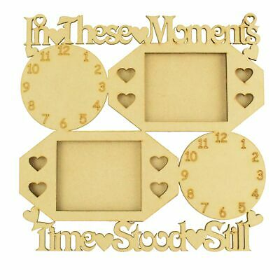 'In these moments time stood still' Photo Frame & Clock - up to 7 clocks CTO203