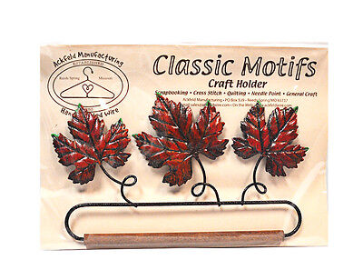 Classic Motifs Autumn Leaf 6.5 Inch Fabric Holder With Dowel