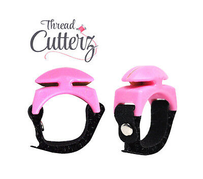 Thread Cutterz Adjustable Thread Floss Yarn Cutting Ring Pink