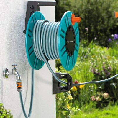 Gardena Wall-Fixed Hose Reel With Hose Guide