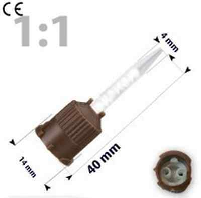 250 pcs Mixing Tips brown pointed, 1:1, for NX3, Temp bond, Dental Impressional
