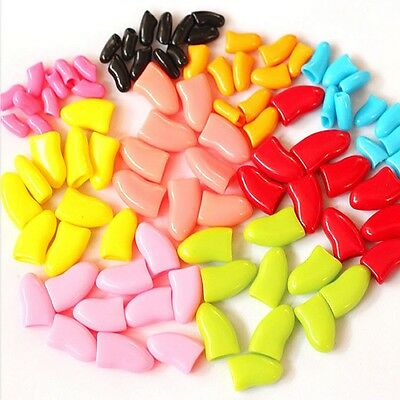 100Pcs Pet Nail Caps Soft Dog Claw Cat Paw Control Avoid Scratching Size XS-XXL