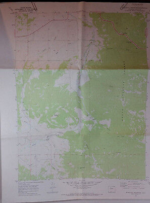 Vtg USGS Topo Map Blacktail Mtn Routt Co. Colorado Hunting Fishing 1969