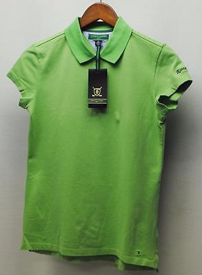 New Ladies Tommy Hilfiger short sleeve golf polo shirt NWT Medium Shamrock Green
