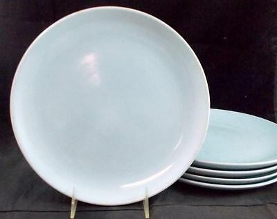 Iroquois CASUAL BLUE 5 Dinner Plates some signs of use - GREAT VALUE
