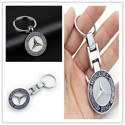 Metal Car logo Auto Part Accessories Car keychain key holder for Mercedes Benz