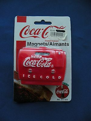 Coca-Cola Magnet 1995 red coke machine radio No.51130 in orginal package