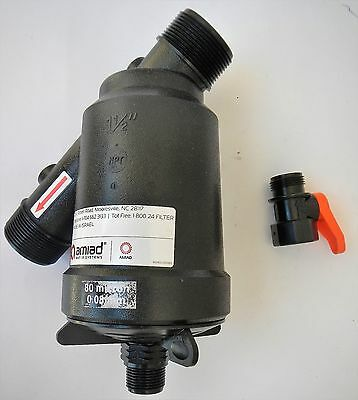 Amiad 010003-000030 Filter Housing 1-1/2 in NPT Flow 45 GPM 80 Micron