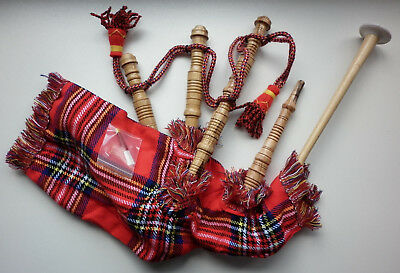 Junior Mini Playable Scottish Bagpipes in various Tartans (Cocus Wood)