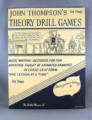 John Thompson's Theory Drill Games Set Three - Brand New