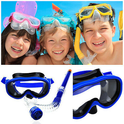 New Child Diving Mask Snorkeling Swimming Scuba Tube Breath Goggles Snorkel Set