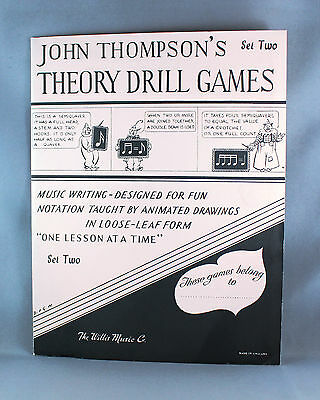 John Thompson's Theory Drill Games Set Two - Brand New