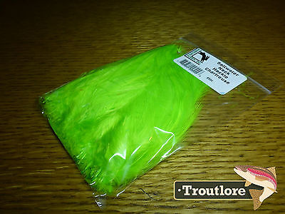 Chartreuse Saltwater Neck Hackle Hareline Dubbin New Salt Fly Tying Feathers