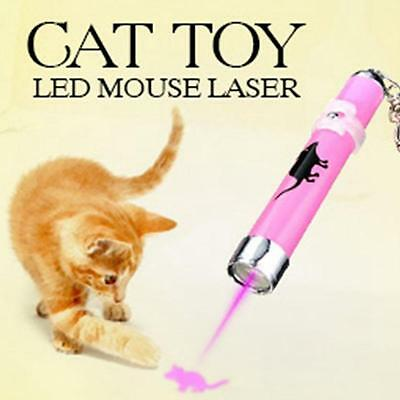 Cat Dog Pet Toy LED Laser Pointer light Pen Bright Cute Mouse Play Projector AH