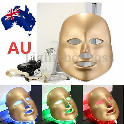 AU Photon LED Facial Mask Skin Rejuvenation Beauty Therapy 3 Colors Light