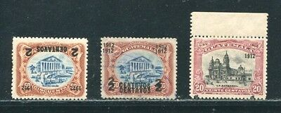 Guatemala Overprint Varieties 1912 Inverted And Double