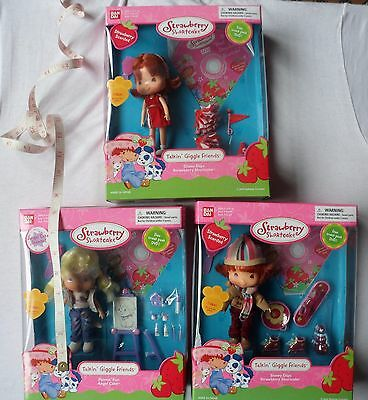 Strawberry Shortcake Talkin Giggle 3 Dolls - Faulty Do Not Talk Just Dolls & Dvd