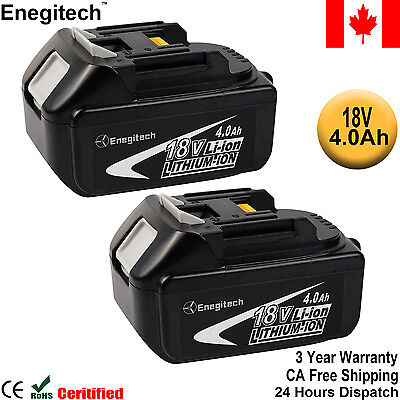 2 Pack Lithium Battery for Makita 18V 4.0Ah Power Tools BL1840 BL1850 LXT-400