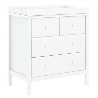 DaVinci Autumn 4 Drawer Changer Dresser in White Baby Changing Table