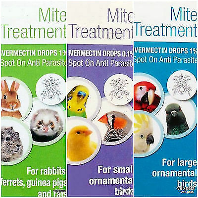 Mite Parasite Treatment Ivermectin 1% for Guinea Pigs/Rabbits/Ferrets/ Birds