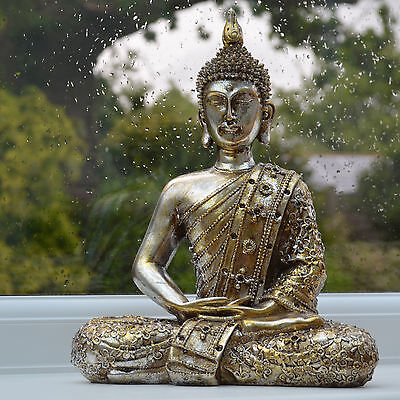 Buddha Statue Sculpture Meditating Antique Home Ornament Thai NEW Large 33078