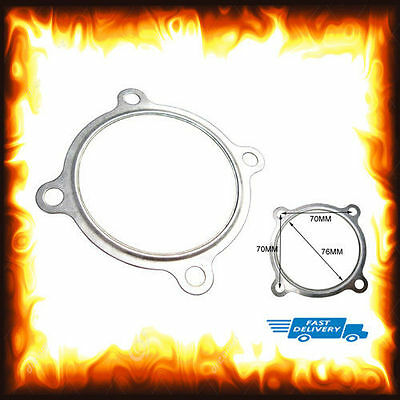 "3"" 3 inch Down Pipe Downpipe Turbo Gasket 4 Bolt Exhaust Inlet Outlet Stainless"