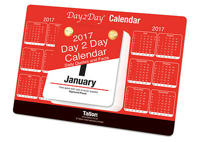 2017 Day To Day Desk Top Stand Up Tear Off Block Calendar with Quotes & Facts