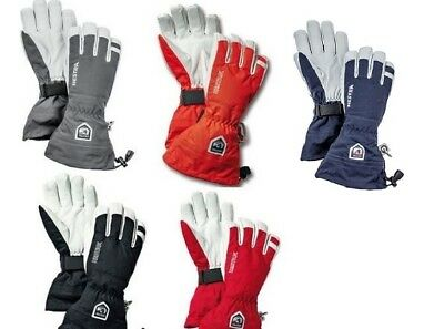 HESTRA Army Leather Heli Ski Fingerhandschuhe 5-Finger (30570) NEUWARE!!