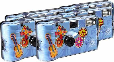TopShot Flower Power Disposable Camera 27 Photos Flash 5 Pack