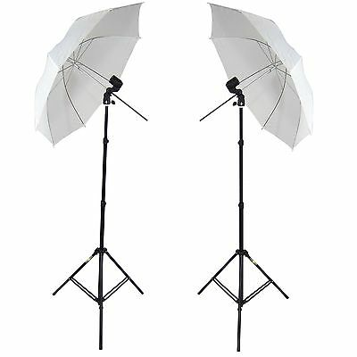 DynaSun 2x W963S E27 Professional Kit with Holder Umbrella Stand and Bag for ...