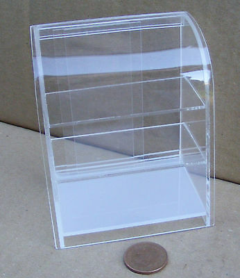 1:12 Scale Curved Top Acetate Counter Display Unit Tumdee Dolls House Miniature
