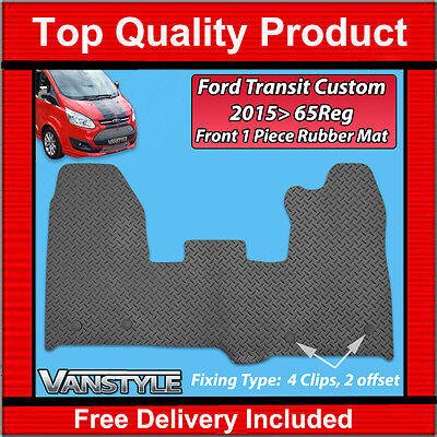 Ford Transit Custom 2015+ Black Rubber Mats Car Floor Mat Heavy Duty Tourneo Van
