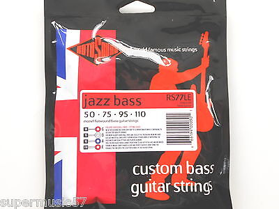 Rotosound RS77LE Jazz Bass Guitar Strings Monel Flatwound Long Scale Heavy Gauge