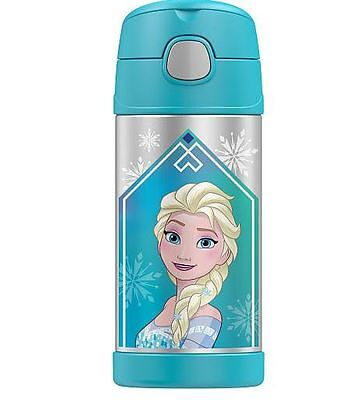 NEW Thermos Disney FROZEN Kids Insulated Lunch Water Bottle Stainless Steel 12oz