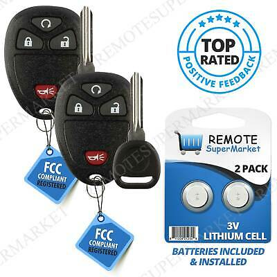 Replacement for Chevy Silverado Suburban 1500 2500 Remote Key Fob 4b rs Set Pair