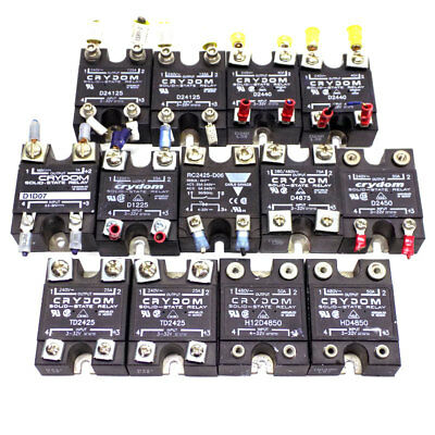 (Lot of 13) Crydom D2440, D24125, H12D4850, HD4850, TD2425 Solid State Relays