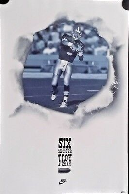 Nike-Troy Aikman,1993 Original Vintage poster FREE INT.SHIPPING