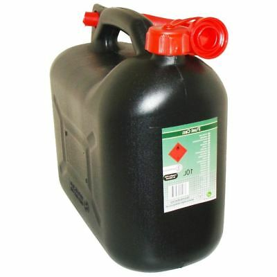 Black Plastic Jerry Can Fuel Petrol Diesel Water Container With Spout 5 Litre