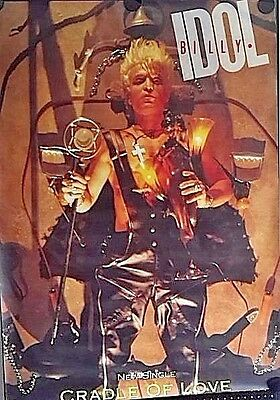 """Billy Idol.Cradle of Love.Orig. Giant Promo Posters 1990.40x60""""FREE INT.SHIPPING"""