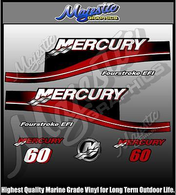 MERCURY - 60hp FourStroke - OUTBOARD  DECALS