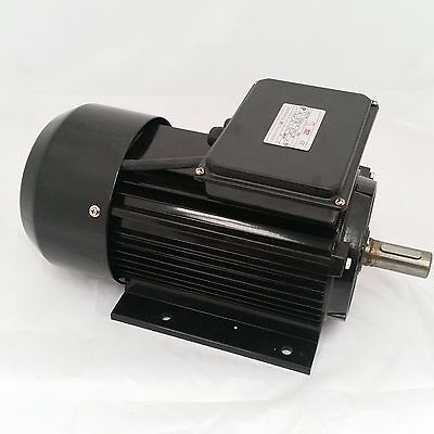3.7 KW, 5 HP Single Phase Electric Motor 240V 1400 RPM With Overload Button !!!