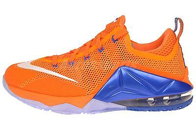 Nike Lebron XII Low GS Kids Youth Boys Girls Basketball Shoes Citrus 744547-838