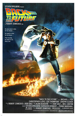 BACK TO THE FUTURE movie poster MICHAEL J. FOX wacky trip ACTION 24X36 - YW0