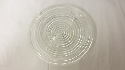 """Older Anchor Hocking Manhattan 8"""" Plate - Clear Ribbed Ring Pattern"""