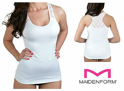 Maidenform Flexees Lace Racer Back Camisole Control Vest Top 2266 NEW Shapewear