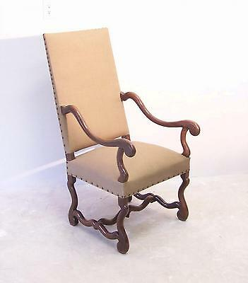 17th c Louis XIV upholstered armchair