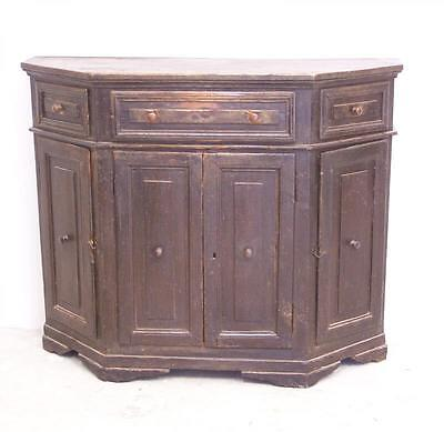 17th c Italian angled side cabinet or cupboard