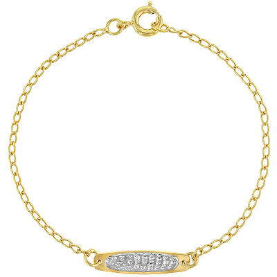 """18k Gold Plated Chain Link Two Tone Children's Kids Bracelet  6"""""""