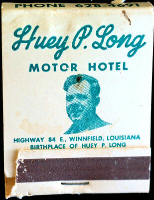 Huey Long, The Kingfish, Democrat Populist Assassinated -  Original 1969